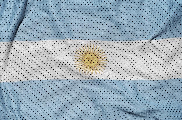 Bandera argentina impresa en una malla de poliéster nylon