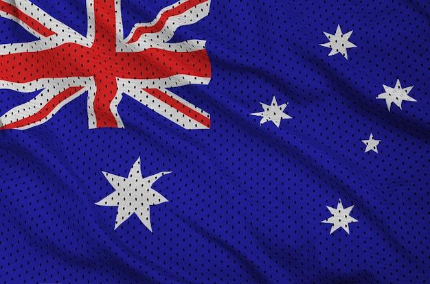 Bandera de australia impresa en una tela de malla de poliéster y nylon para ropa deportiva