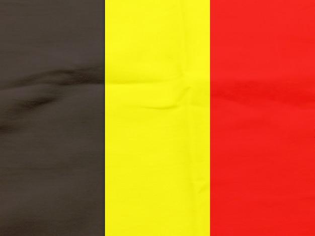 Bandera de bélgica con textura de fondo