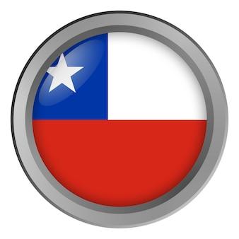 Bandera de chile redonda como un botón