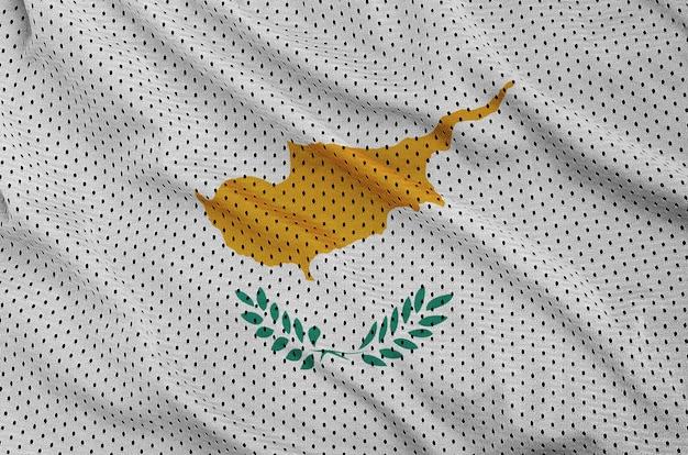 Bandera de chipre impresa en una malla de nylon y poliéster