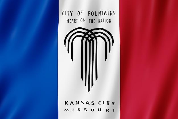 Bandera de la ciudad de kansas city, missouri (ee.uu.)