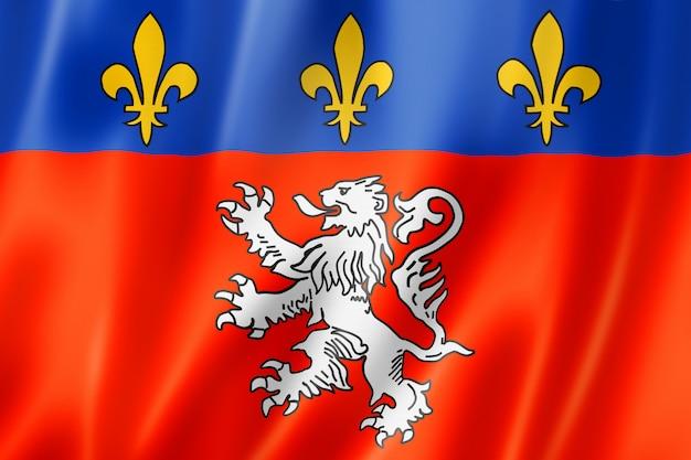 Bandera de la ciudad de lyon, francia