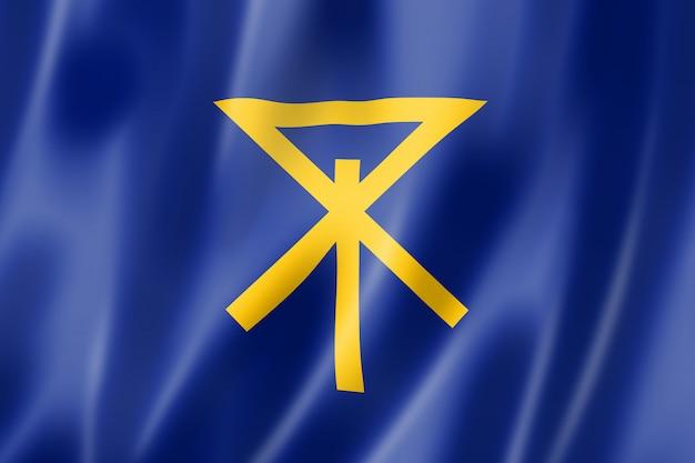 Bandera de la ciudad de osaka, japón