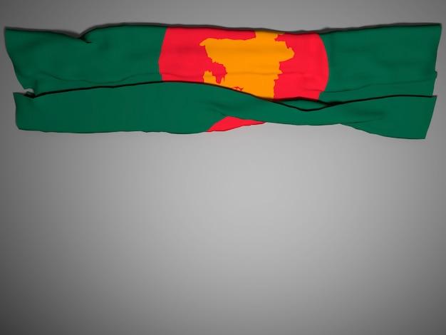 Bandera del día de la independencia de bangladesh, renderización 3d