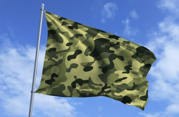 Bandera del ejército volando