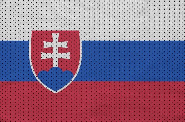 Bandera de eslovaquia impresa en una tela de malla de poliéster deportiva de nylon