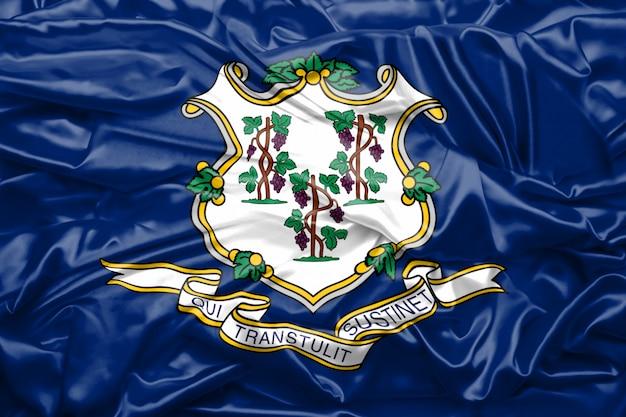 Bandera del estado de connecticut de los estados unidos de américa