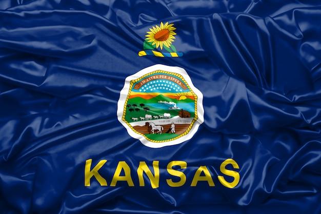 Bandera del estado de kansas de los estados unidos de américa