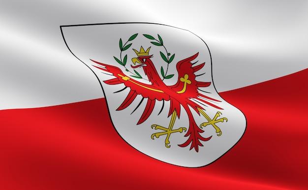 Bandera del estado de tirol, austria