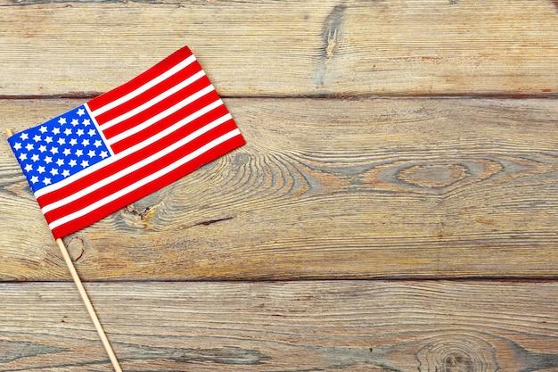 Bandera de los estados unidos de américa. fiesta de los veteranos de los estados unidos, memorial, independencia y día del trabajo.