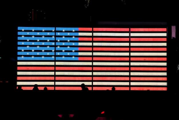 Bandera de estados unidos que brilla intensamente