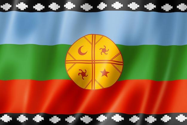 Bandera étnica mapuche, américa del sur