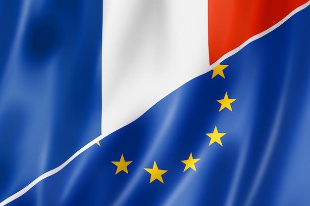 Bandera de francia y europa
