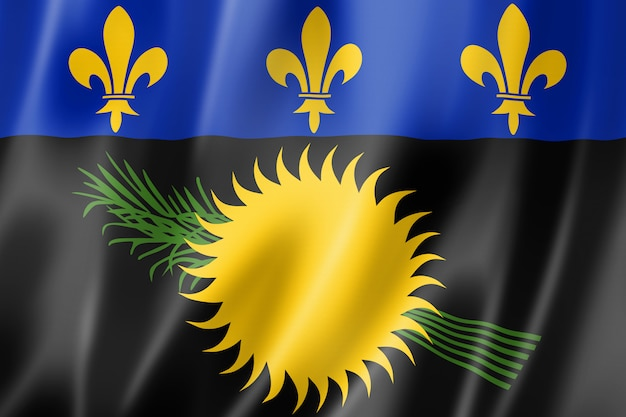Bandera de guadalupe, territorios de ultramar de francia