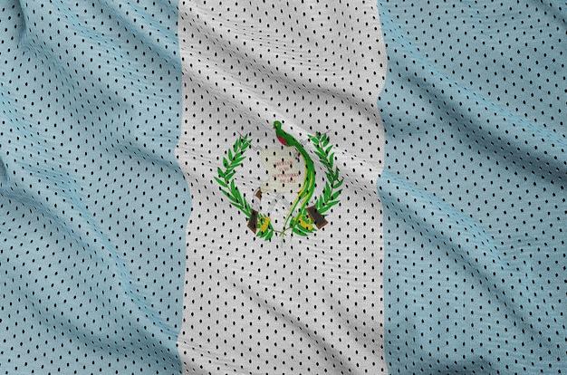 Bandera de guatemala impresa en una malla de nylon y poliéster