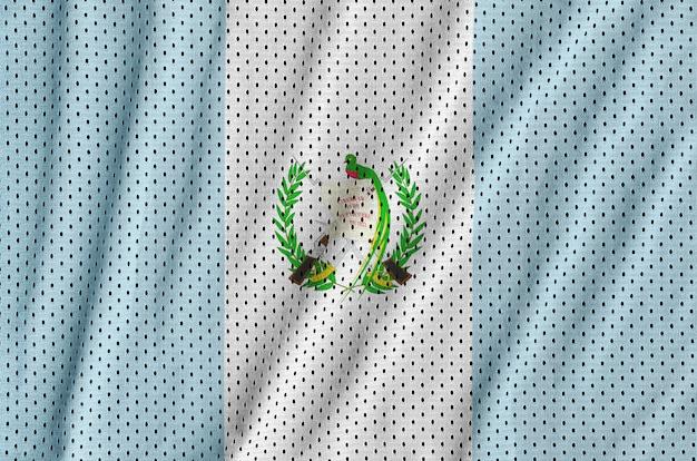 Bandera de guatemala impresa en una tela de malla de nylon y poliéster