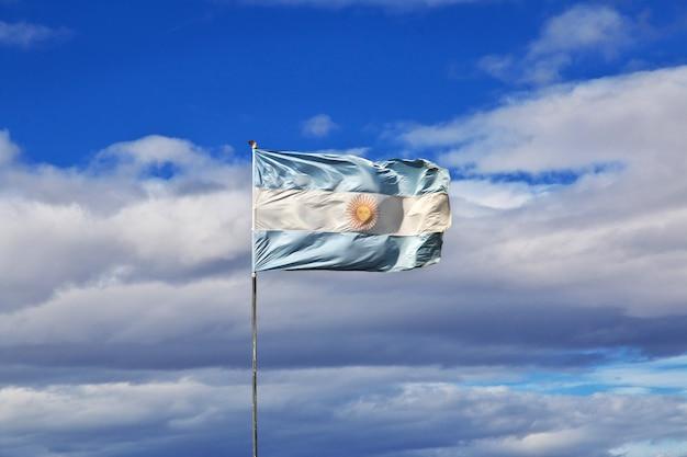 La bandera en el hotel en patagonia, argenina