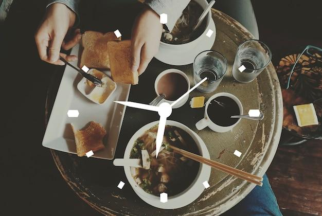 Bandera de la insignia de la hora del reloj del reloj