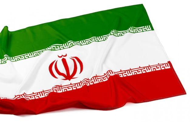 Bandera de irán en blanco