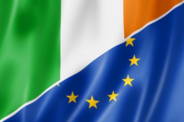 Bandera de irlanda y europa