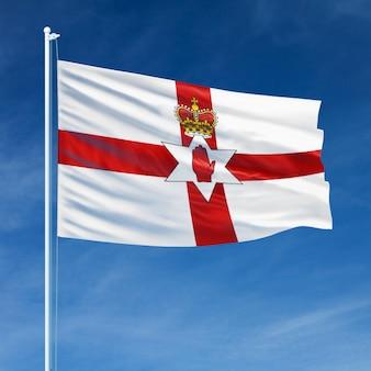 Bandera de irlanda del norte volando