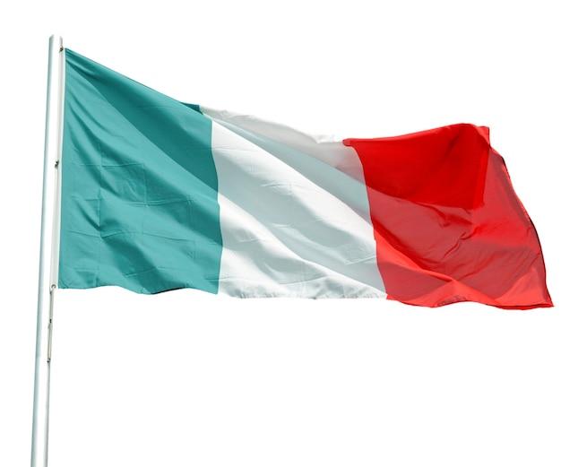 Bandera de italia, aislado