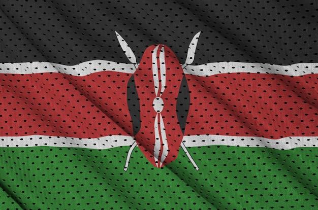 Bandera de kenia impresa en una malla de poliéster nylon