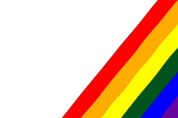 Bandera lgbt aislado sobre fondo blanco.