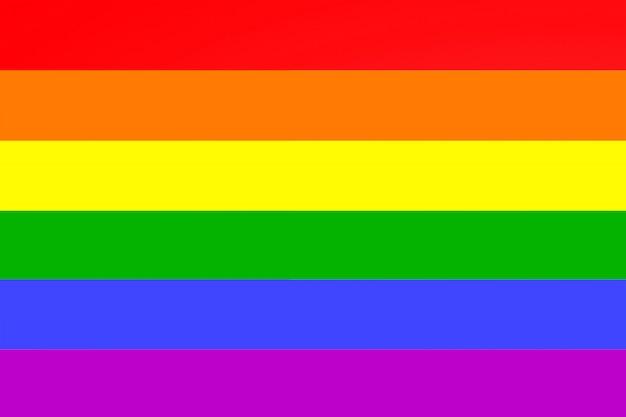 Bandera lgbt arcoiris. bandera lesbiana, gay, bisexual y transgénero de la organización lgbt. igualdad, amor, concepto de orgullo