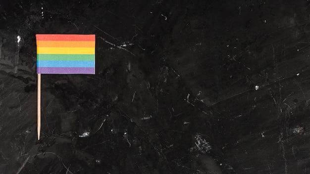 Bandera lgbt brillante multicolor