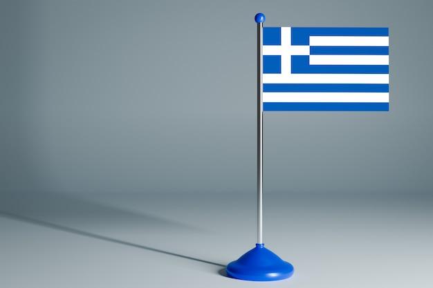 Bandera de mesa en blanco, adecuada para el diseño,