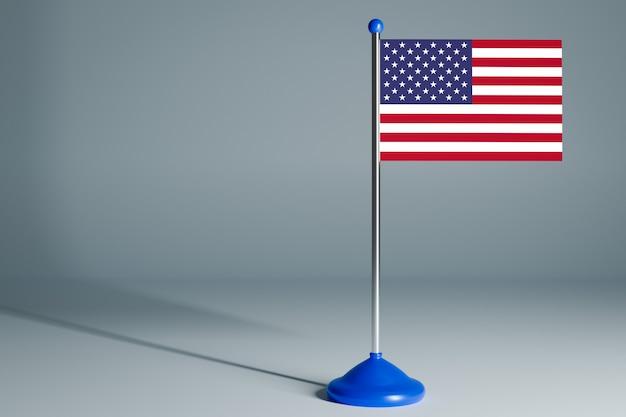 Bandera de mesa en blanco, adecuada para diseño