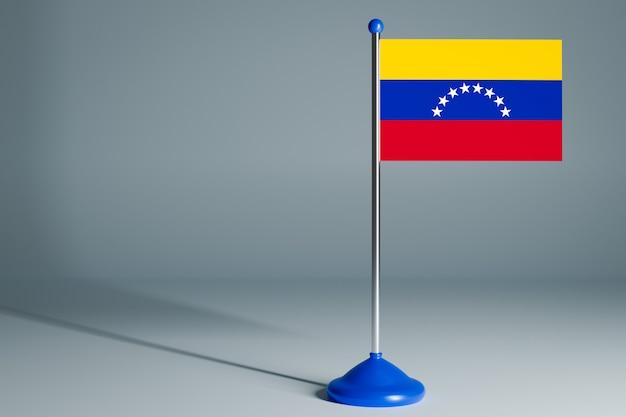 Bandera de mesa en blanco