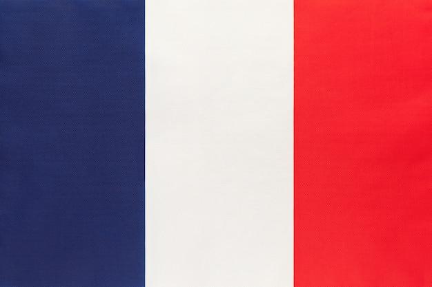 Bandera nacional de tela de francia, fondo textil