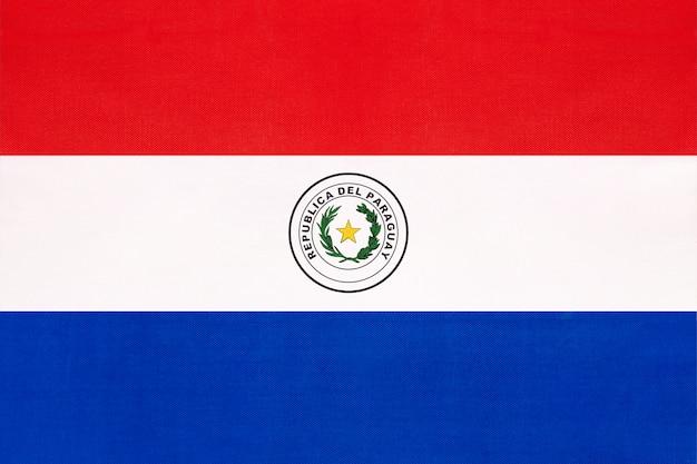 Bandera nacional de tela de paraguay