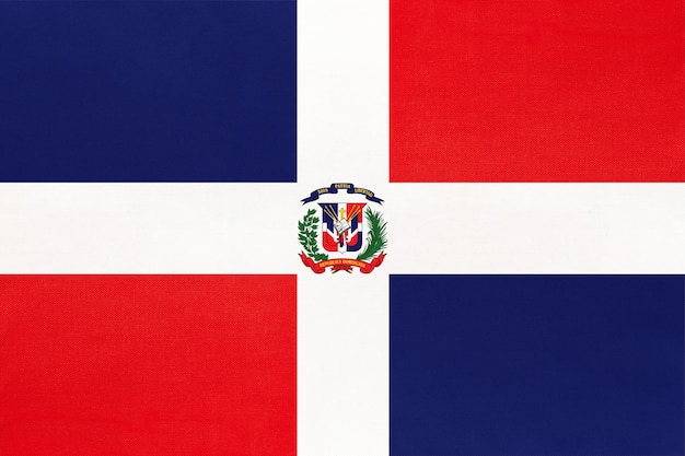 Bandera nacional de tela de república dominicana