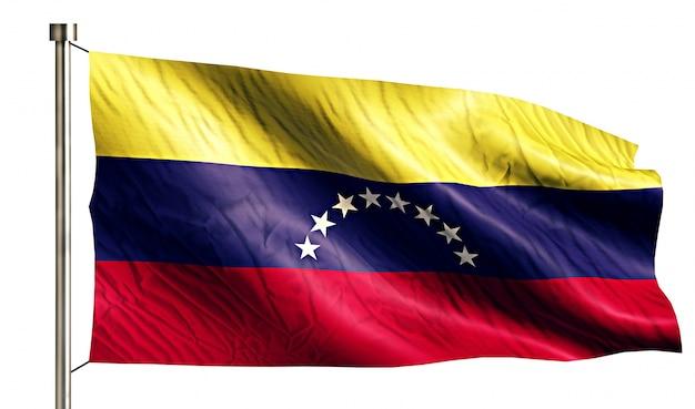 Bandera nacional de venezuela aislado fondo blanco 3d
