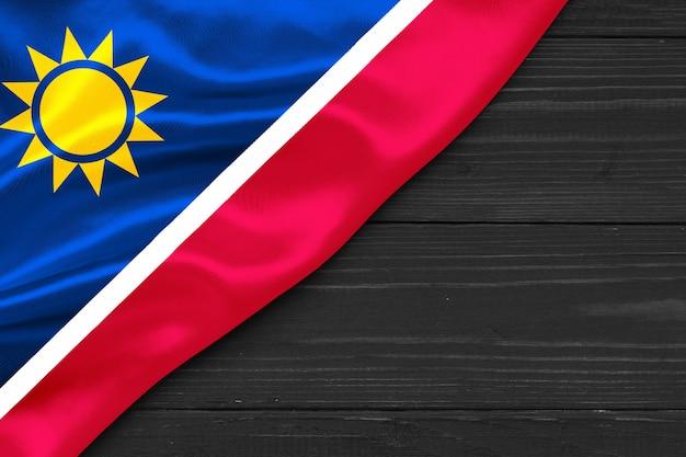Bandera de namibia espacio de copia