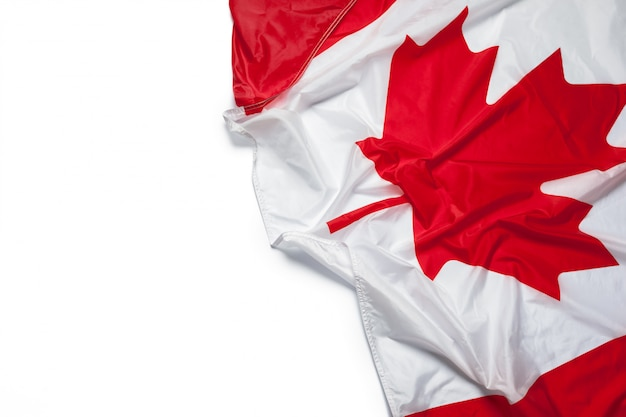 Bandera ondeando canada