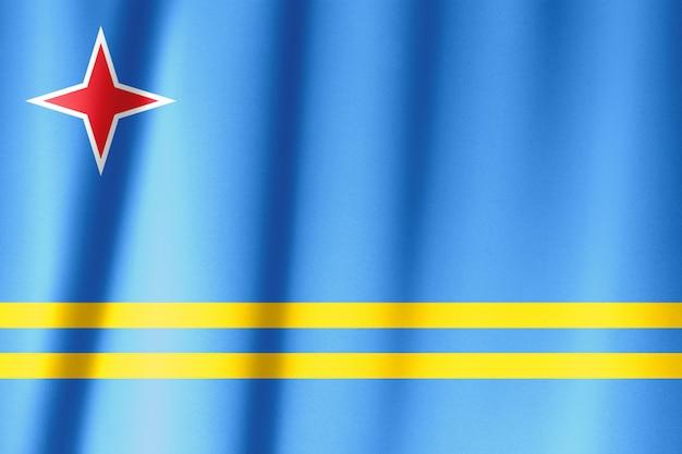 Bandera ondeando en la serie de viento - aruba