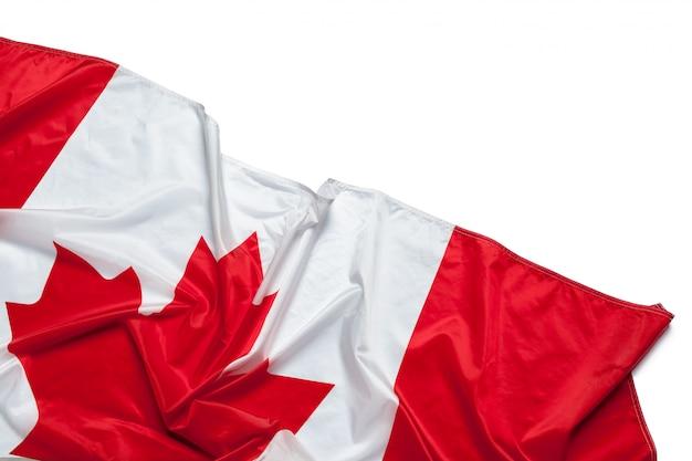 Bandera ondeante de canadá