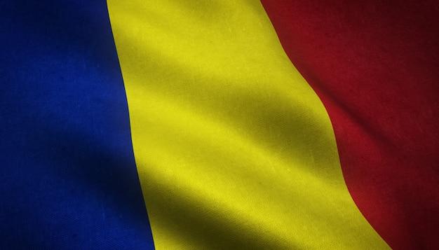 La bandera ondeante de rumania