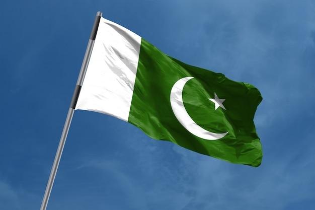 Bandera de pakistán ondeando