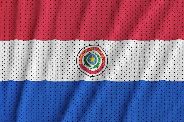 Bandera de paraguay impresa en una tela de malla de poliéster deportiva de nylon