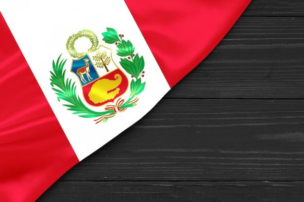 Bandera de perú lugar para espacio de copia de texto