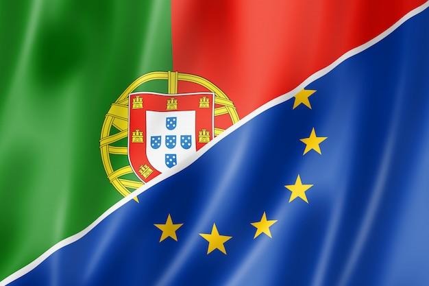 Bandera de portugal y europa