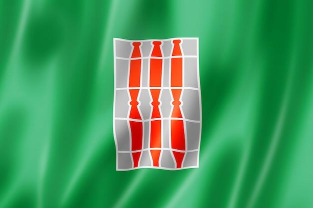 Bandera de la región de umbría, italia ondeando la colección de pancartas. ilustración 3d