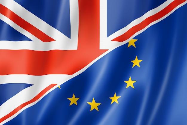 Bandera del reino unido y europa