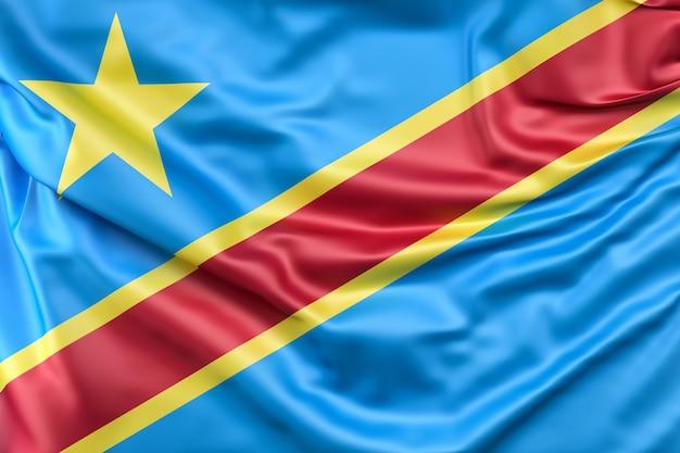 Bandera De La República Democrática Del Congo Foto Gratis